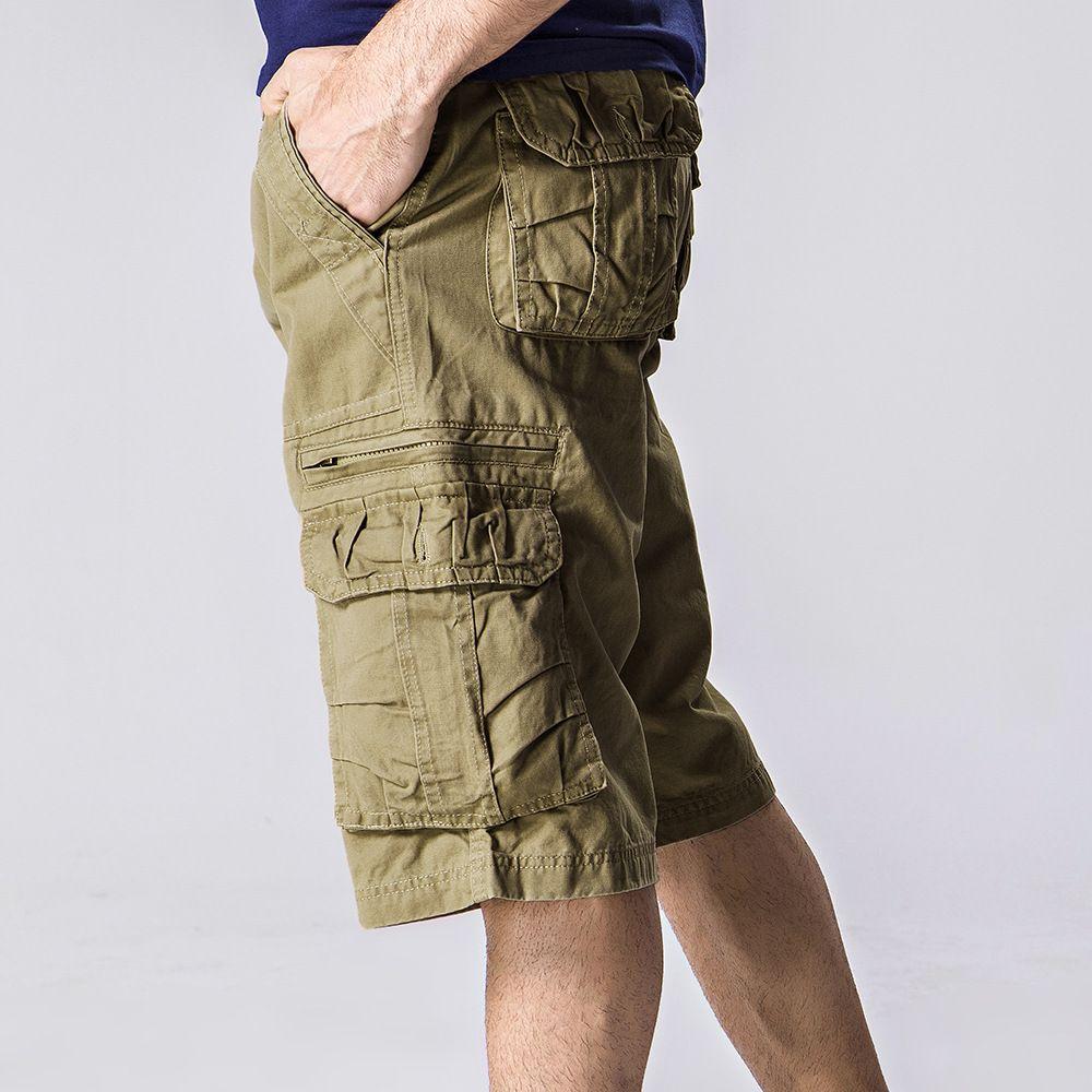Venda quente por atacado de verão dos homens do exército de carga de trabalho calções casuais homens moda esportiva geral calças plus size