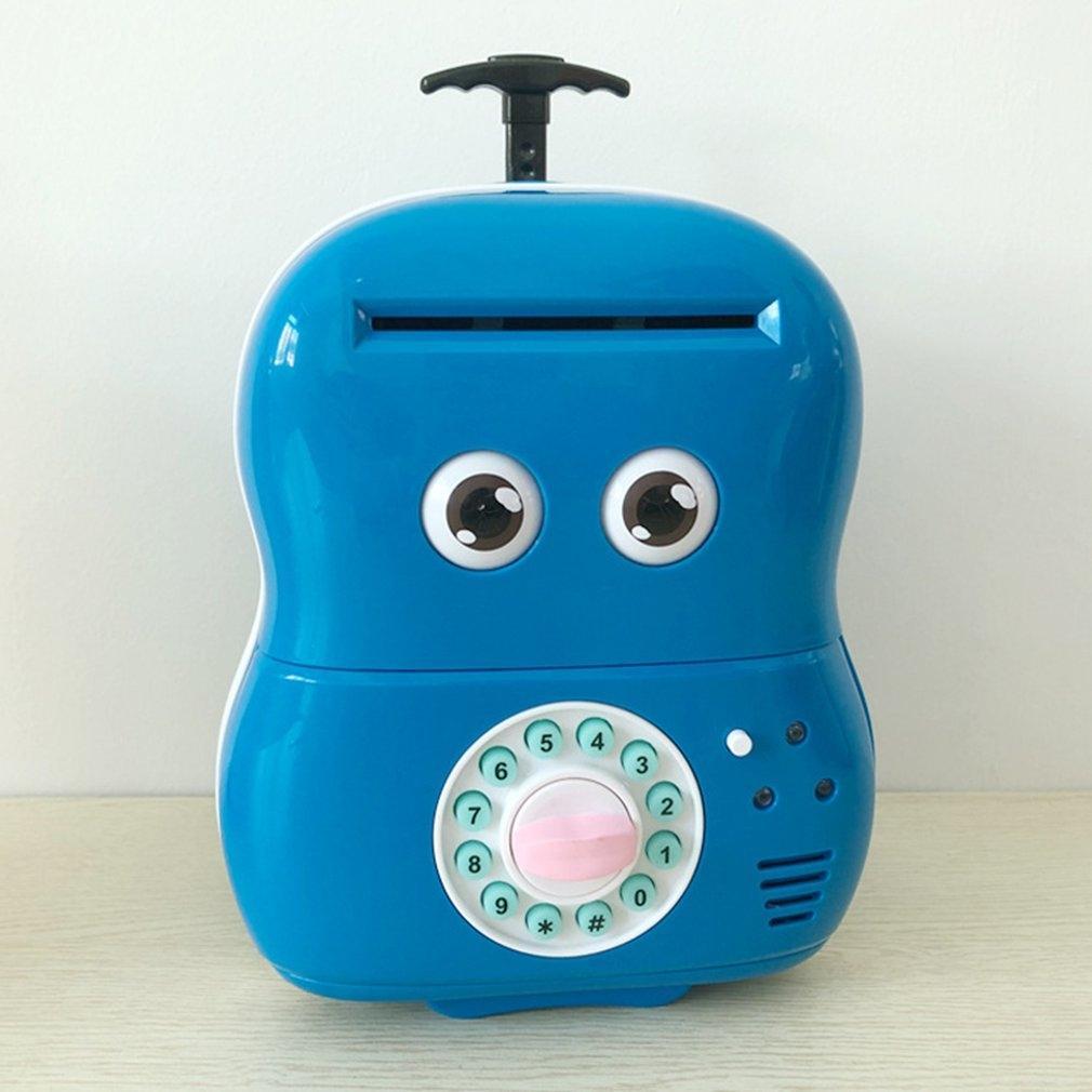 Linda creativa contraseña bebé automático de rollo de dinero Piggy caja de la carretilla de dibujos animados Banco de contraseñas Caja niños elegantes hucha
