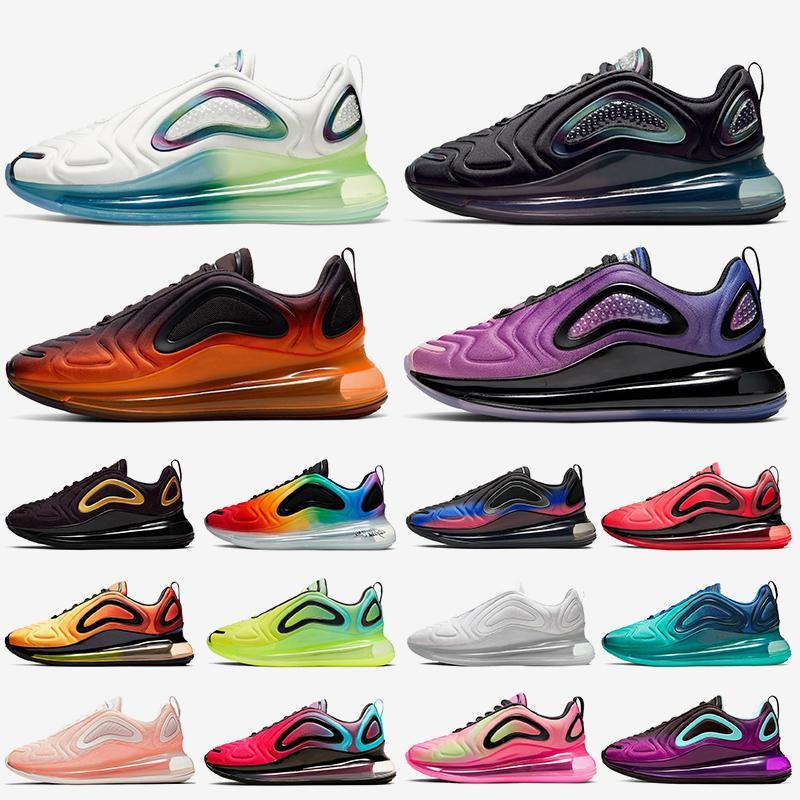 nike air max 720 air 720 vapormax Metalik Siyah Platin KPU Koşu ayakkabı mens Womens Deniz Orman Sunset Üçlü beyaz Sunrise Erkek eğitmenler TPU Spor sneakers NIK
