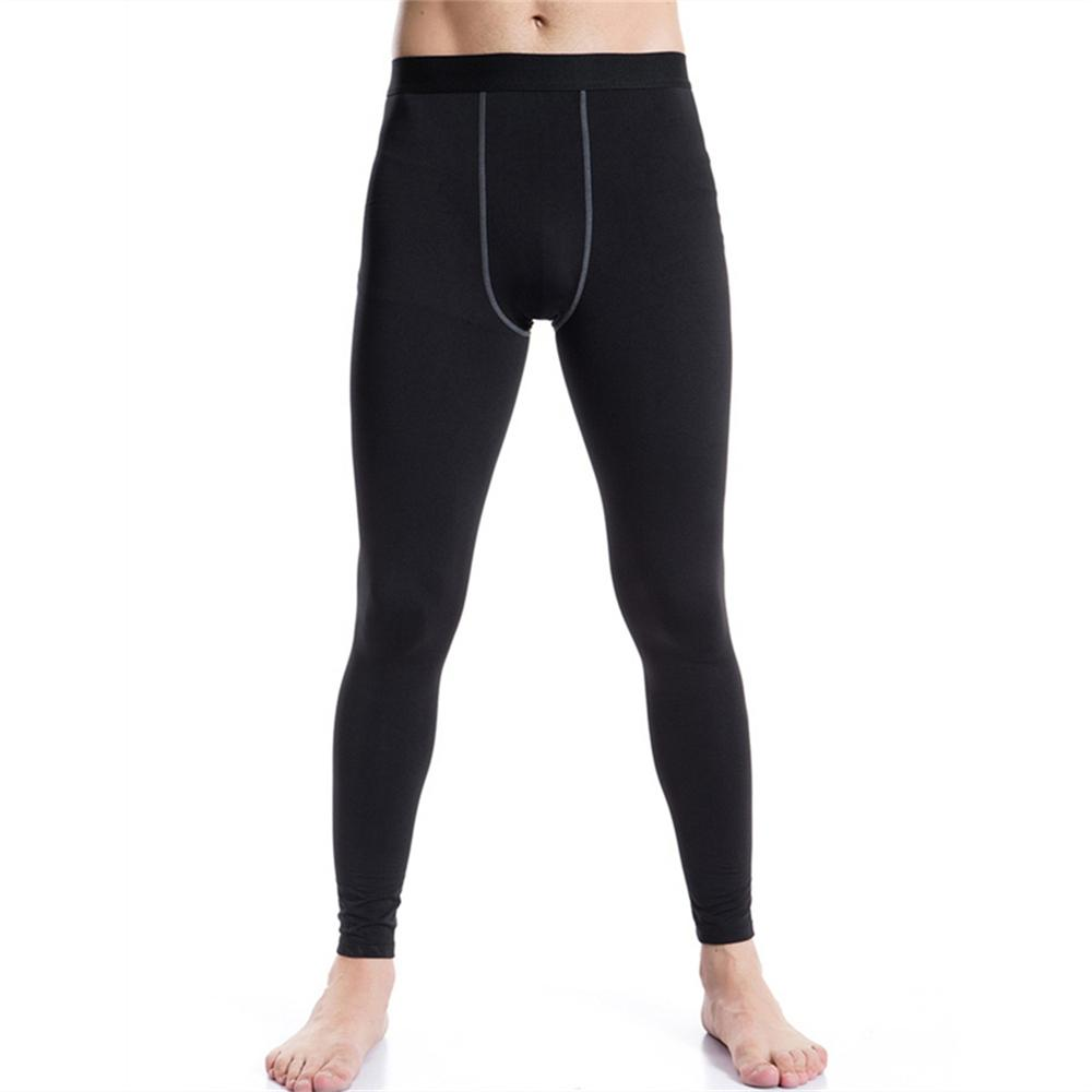 Men/'s Thermal Ankle Length Tight Pants Sports Gym Fitness Leggings Trousers