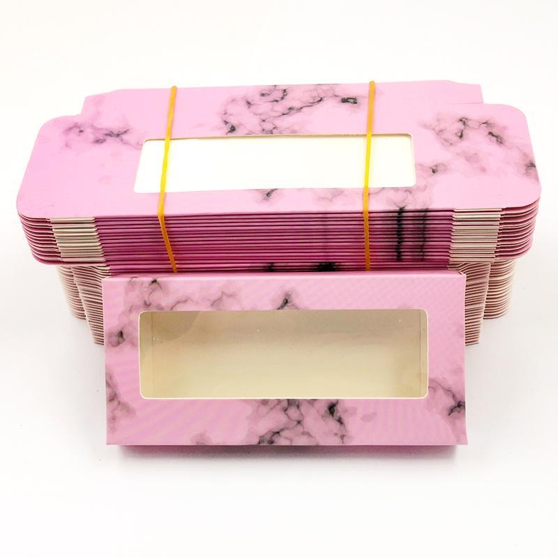 Kirpikleri DIY flaş ambalaj kartonu kirpik paket kağıt kutusu renk için kutu Ambalaj YENİ 50 adet 25mm kirpikler