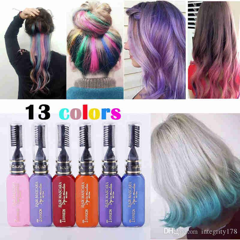 Teayason One Time Hair Color Hair Dye Temporary Non Toxic Diy Hair Color Mascara Dye Cream Blue Grey Purple Hair Color Product Best Hair Color
