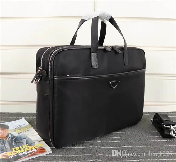 Global High Shipping Herren Luxus-Tasche Freier klassische Schultertasche Aktentasche Handtasche 31cm Qualitäts-Leinwand der großen v407s 40cm Größe WOGEF