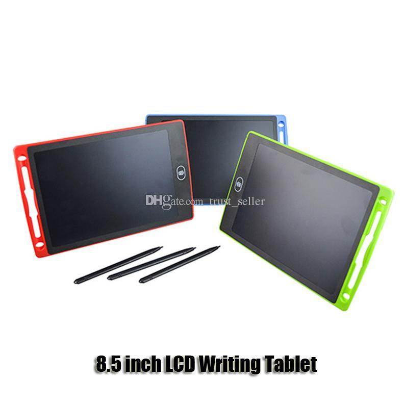 8.5 inch Writing Tablet Drawing Board Blackboard Handwriting Pads Gift for Kids Paperless Notepad Tablets Memo With Upgraded Pens DHL