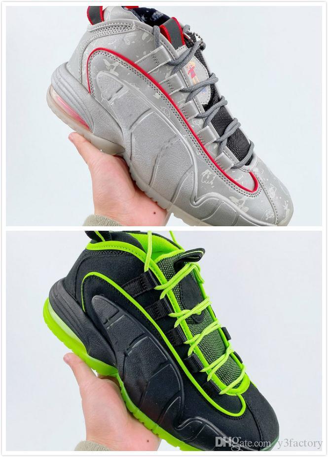 2020 Mens penny di pallacanestro scarpe per uomo Sneaker Sport grigio nero uomo atletico sneakers sport raffreddano dimensioni Formatori Maschio Chaussures: 40-45