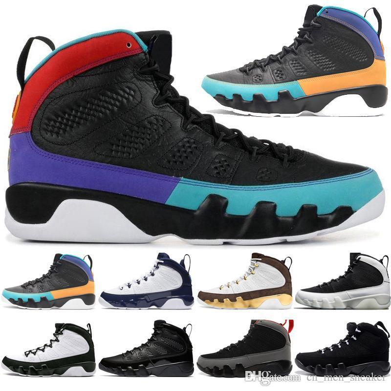 Kutu Sale 9 9s Rüya It Do It UNC Paspas Melo Erkek Basketbol Ayakkabı LA OG Space Jam erkekler Bred Tüm Siyah Antrasit spor ayakkabısı tasarımcı ile