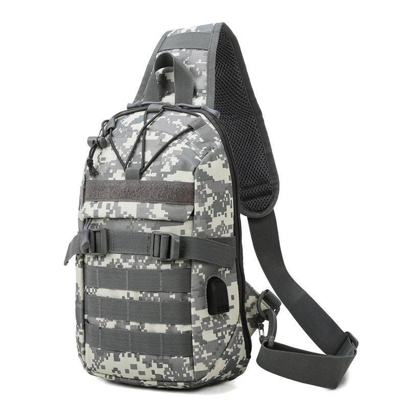 Männer Tactical Tarnung Tasche Radfahren Brusttaschen Outdoor Sports Wandern Camping Schultertasche Tragbarer Messenger Bag