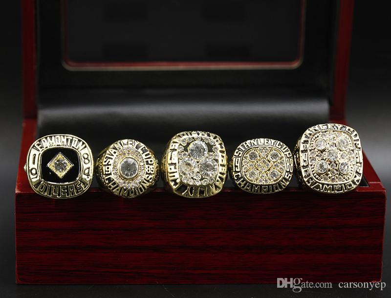 1984 1985 1987 1988 1990 Edmonton Oilers Championship Ring Hockey Herrenring Fans Best Gifts Set