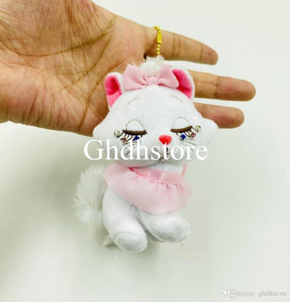 """Top 4"""" nuevos regalos 10CM del gato de Marie muñeca de la felpa del Anime de colección Muñecas Llaveros Party relleno suave Juguetes colgantes"""
