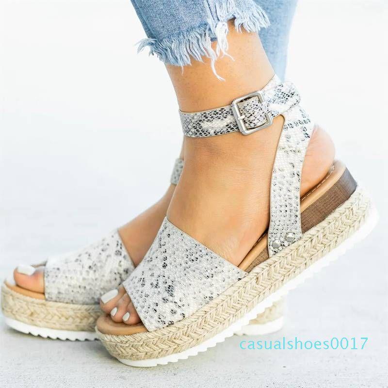 Acuña los zapatos para las mujeres de los altos talones las sandalias del verano 2020 Flop Chaussures Femme plataforma de las sandalias 2019 más el tamaño de C17