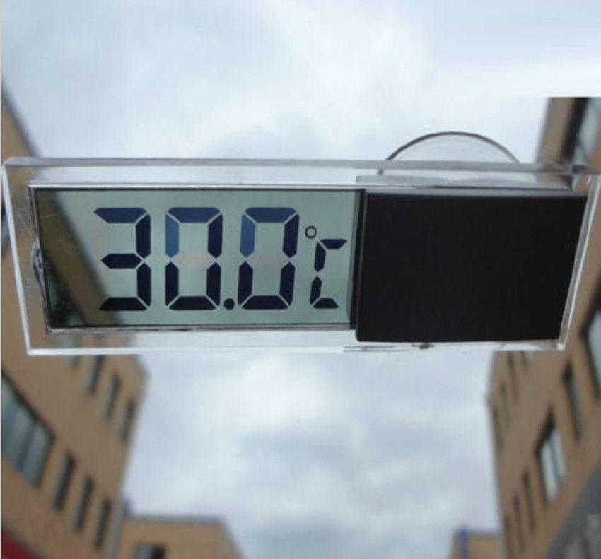 LCD 디지털 온도 측정기 실내 야외 석션 컵 자동차 자동 온도계 BO