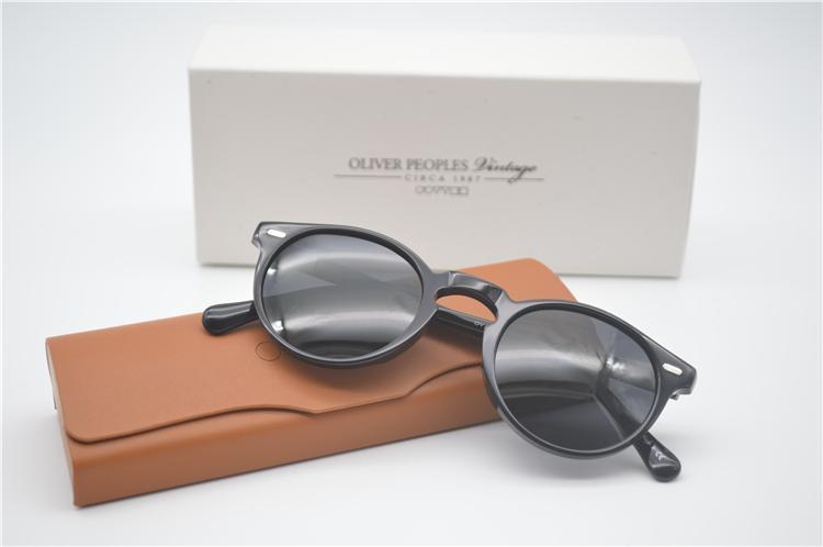 Al por mayor-Lujo-retro S Gafas de sol polarizadas Hombre Conducción al aire libre Mujeres Oliver Peoples Ov5186 47mm Gregory Peck Gafas de sol con estuche