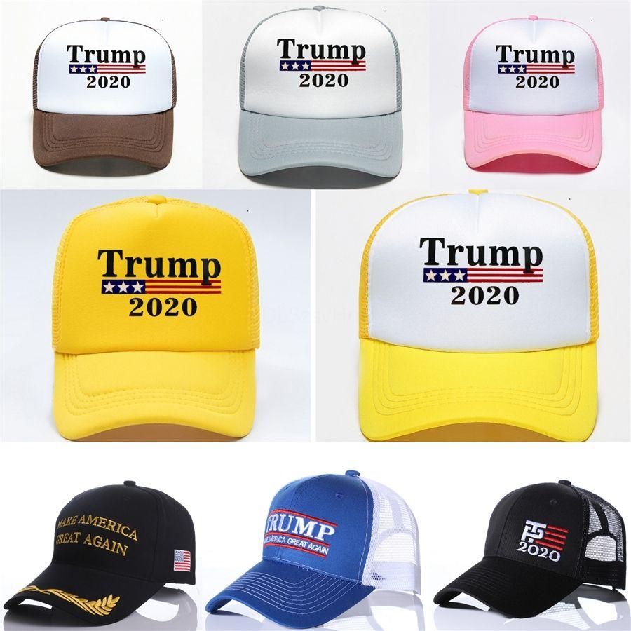 New Trump 2020 Baseball-Mütze 5 Styles Brief gedruckt Keep America Great Outdoor Sprots Trump Caps # 863