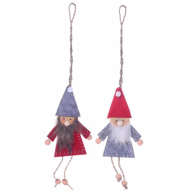 Yaratıcı Noel ağacı kolye Old Man Doll Çocuklar Kid için Kumaş Noel Ev Bahçe Partisi Süsleme Dekorasyon Hediye Dokumasız