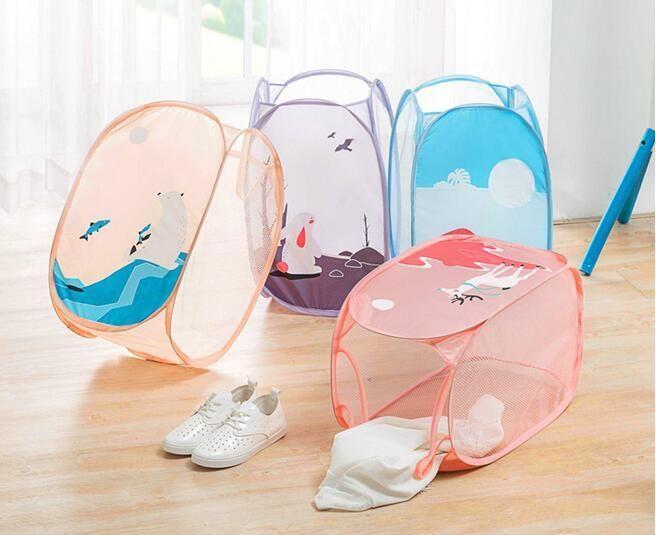 Cestas housekeep Hot dobrável armazenamento de roupas de malha Washi sujos roupa cesta de lavanderia portátil Roupa Interior Diversos Organizador Brinquedos Container