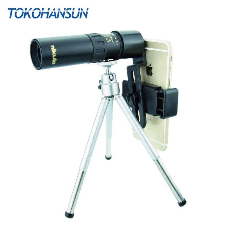 TOKOHANSUN Cep Telefonu Lens 10-30X Zoom Teleskop Evrensel Klip Telefon Kamera Lensler iPhone x 7 8 Artı Samsung s9 Artı