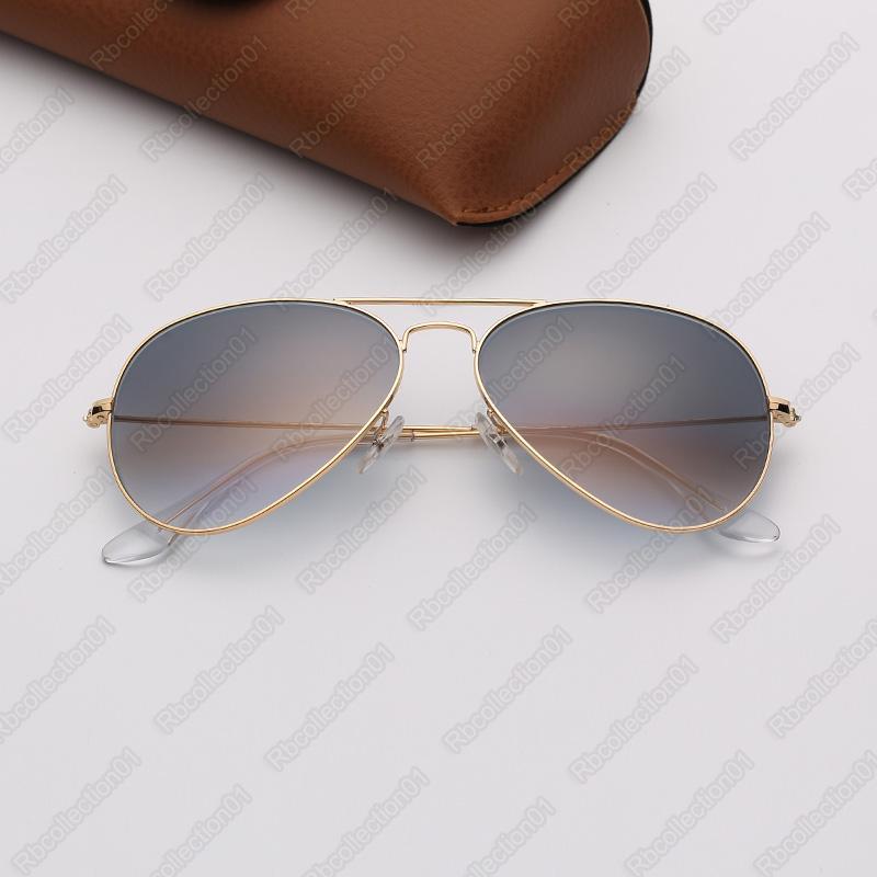 de luxo de designer de sol óculos de sol dos homens piloto de moda óculos eyeware mulher marca óculos moldura de ouro óculos Cinzas Óculos gradiente lentes