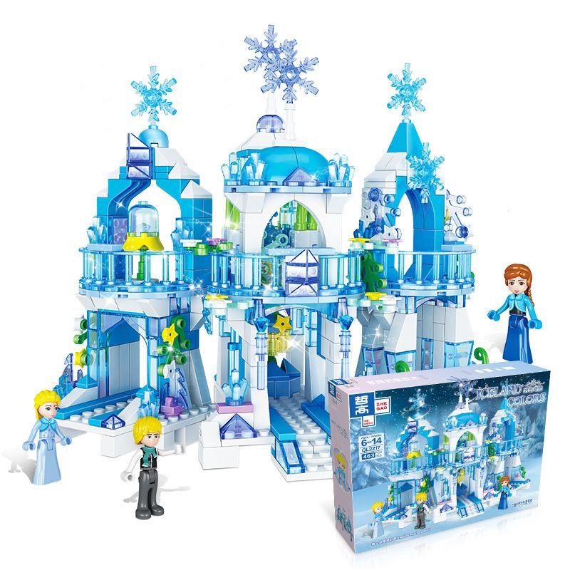 2020 2020 Princess Snow Queen Ice Castle Snow Figures