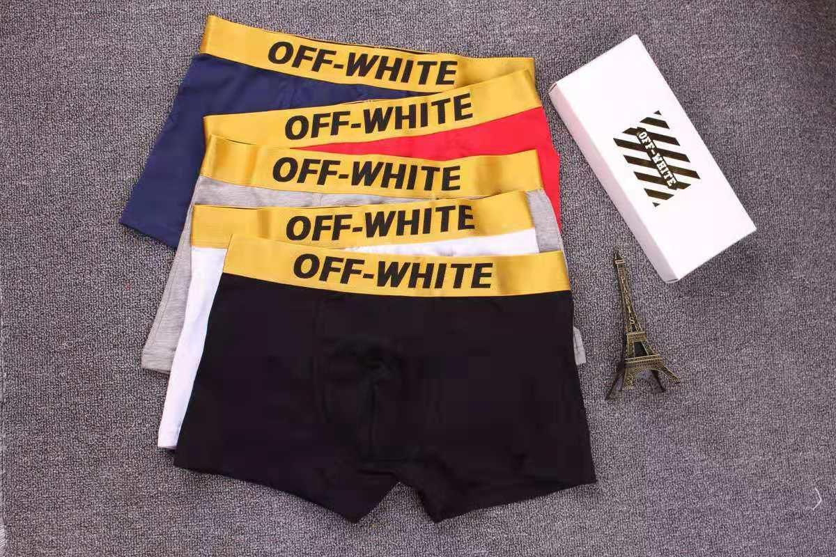 Modedesigner Herren-Unterhose Marke Boxer mit Buchstaben Gitter Print Applikationen Mens kühlen Breathable Unterwäsche 4 Farben erhältlich
