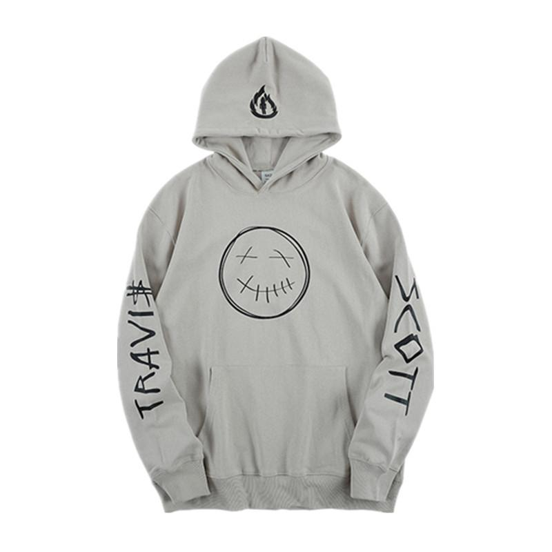 Mens Designer Hoodies Travis Scott ASTROWORLD Smile Flame Letter Print Hooded Hoodie Casual Hooded Pullover High Street Sweatshirts S-XL