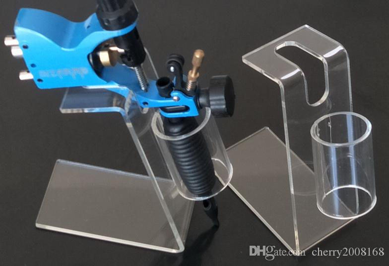 5PCS Pro New Acrylic Tattoo Gun Holder Stand för Tattoo Machine Gun Supply
