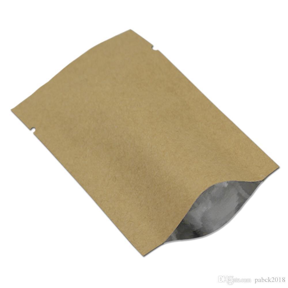 20х30 см крафт-бумага открытым верхом вакуумный мешок коричневый фольги термосварки еды мешки для хранения лавсановой фольги упаковка мешок для порошка