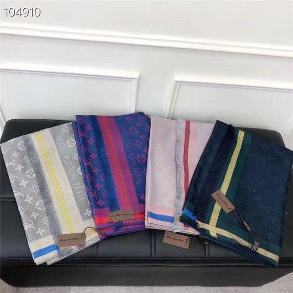 High quality female 140*140cm scarf shawl letter ribbon silk cotton design style elegant female brand accessories