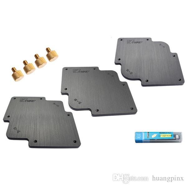 Freeshipping 3Pcs R Round Corner Radius Jig Router Templates Bakelite Plate Engraving Machine