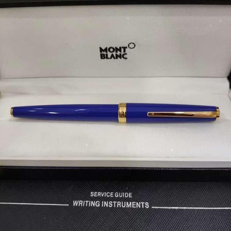 Serin mavi renk lüks kalem mb kalemler Metal lüks kalem Gümüş damalı tükenmez kalem yazma tedarikçisi Iş Ofis okul lüks wie345#