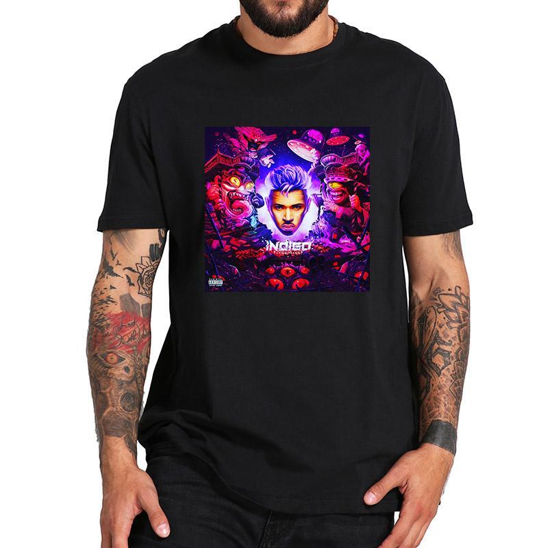 Chris Brown T Shirt New Indigo Обложка Tshirt Hip Hop Singer Азиатский размер Crew Neck Хлопок высокого качества вскользь Tee Shirt