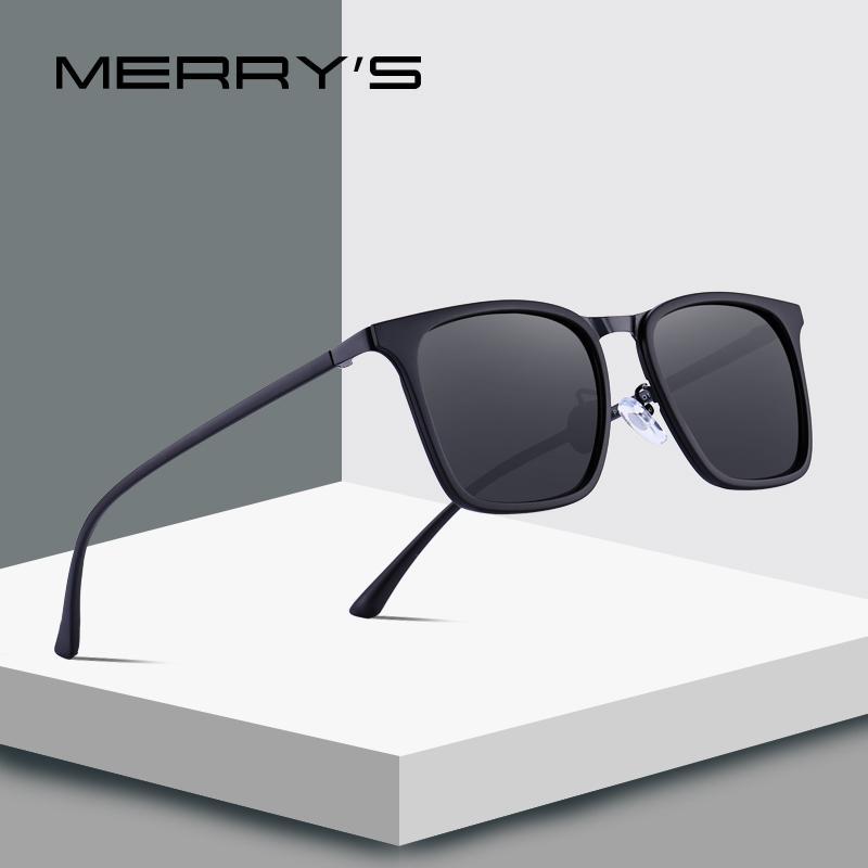 MERRYS DESIGN Мужские Квадратные Поляризованные Солнцезащитные Очки Для Вождения Спорт На Открытом Воздухе Сверхлегкая Серия UV400 Защита S8131