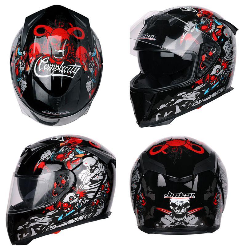 Tefanball Fashion cool Full Face Motorcycle Helmet Racing Helmet Motocross Off Road Casco De Moto Motociclista DOT Approved
