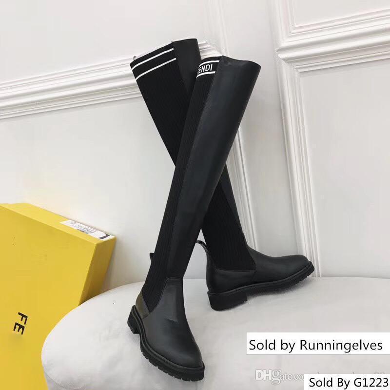 grife de luxo mulheres sapatas sobre o joelho superstars coxa meias altas botas caixa original
