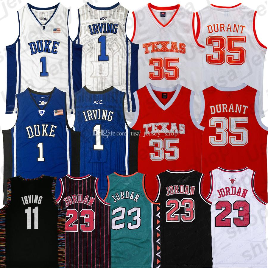NCAA Irving Duke Jersey Kevin Durant 7 Texas Vince Carter 15 Tracy 1 Mcgrady Basketball Jerseys