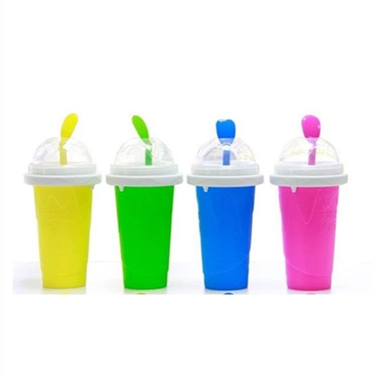 new Sand ice cup Summer thirst-quenching silicone DIY smoothie cup ice cream ice making cups kneading cup Drinkware T2I51005