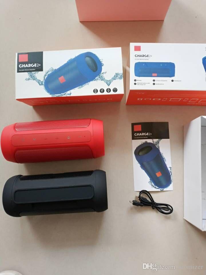 소매 상자 DHL 배송 블루투스 스피커 방수 무선 블루투스 충전 2 + 딥 서브 우퍼 스테레오 휴대용 스피커