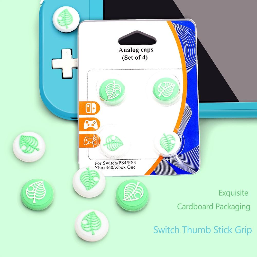2020 Cute Animal Crossing Style Silicone Non Slip Thumb Grips Case Cover Lovely Thumb Stick Joystick Caps For