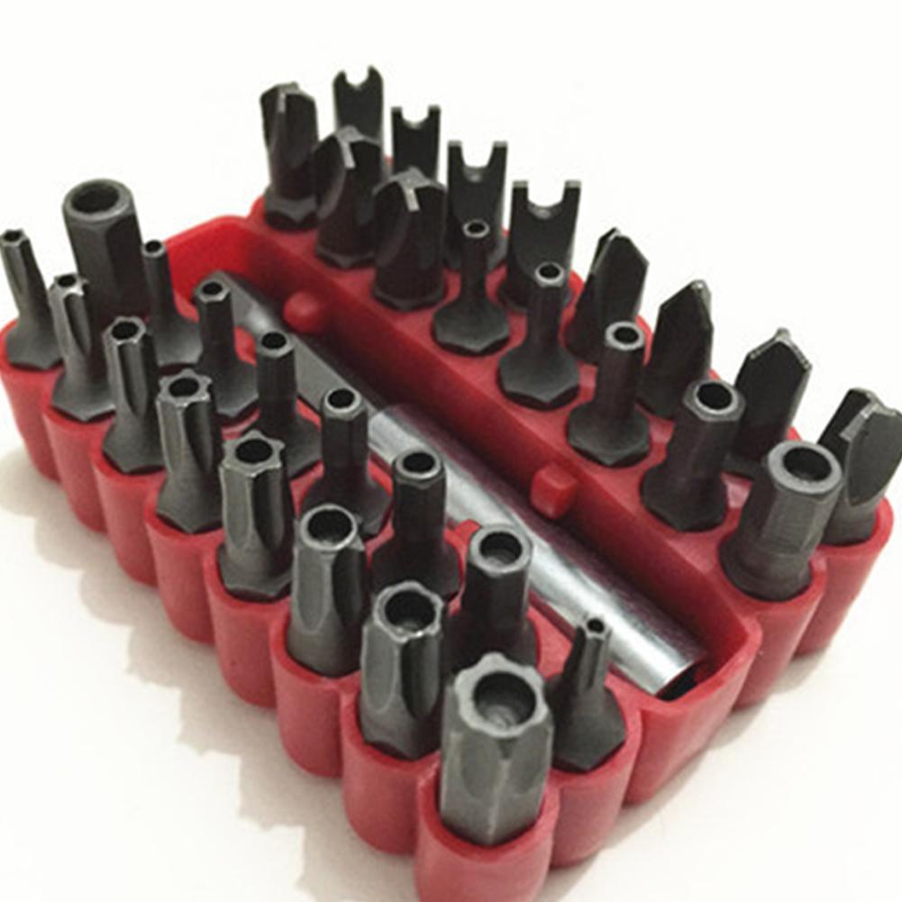 33-in-1-Schraubendreher-CRV-Bitsatz mit magnetischer Verlängerung Bit-Torx-Sechskantschlüssel