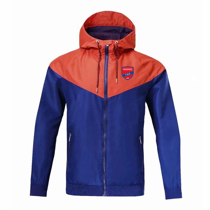 2020 Panionios soccer zipper Windbreaker longue sports d'hiver manteau veste manches de football coupe-vent veste sweat à capuche sport Vestes d'homme