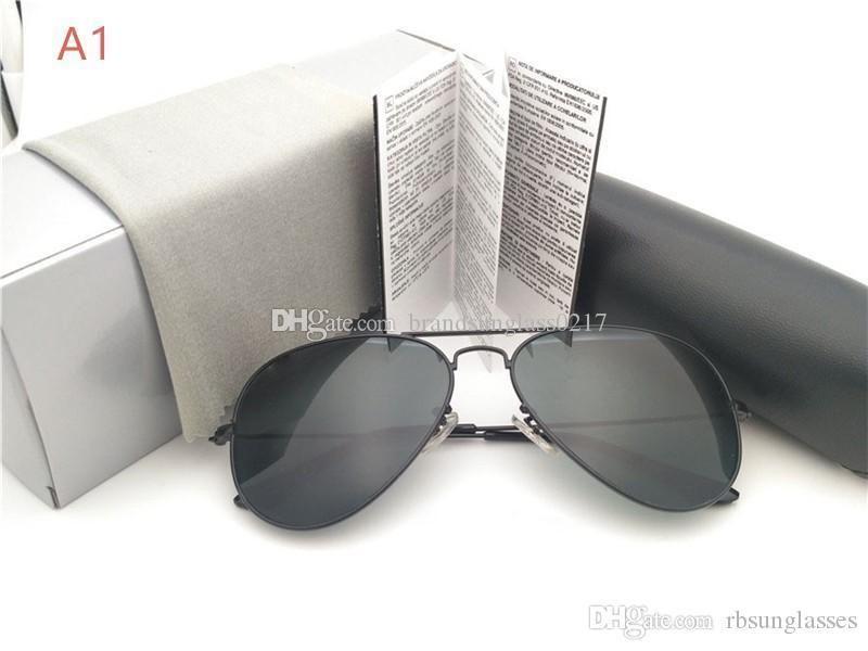 высокое качество Brand Cолнцезащитные очки Классические солнцезащитные очки Мужчины Женщины вождения Солнцезащитные очки UV400 Солнцезащитные очки с коробкой и корпусом