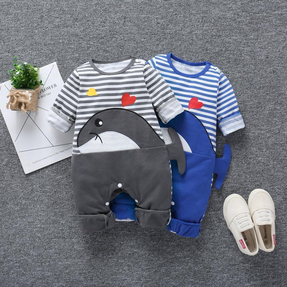 Costume bebê listrada dos retalhos do bebé Meninos Roupas Padrão bunvel macacãozinho Criança Crianças Bebé Menina Meninos Rompers Animal dos desenhos animados