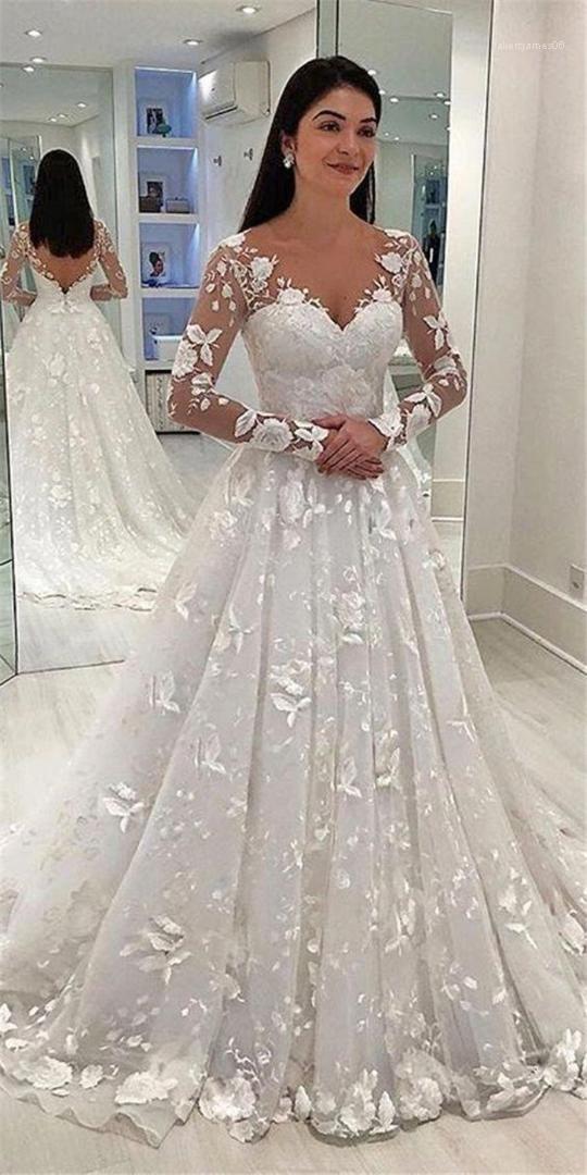 Abbigliamento partito di stile sexy di modo casuale Abbigliamento donna Wedding Designer abiti di pizzo stampa floreale manica lunga con scollo a V Femminile