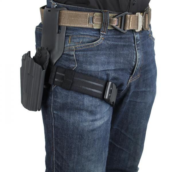 IPSC Thigh Strap Gamba Appeso Speciale Band Elastico Elastico Tattico Belt Belt Bustre Belt Belt Drop Adapter Mounter Safariland Link Plate Vita