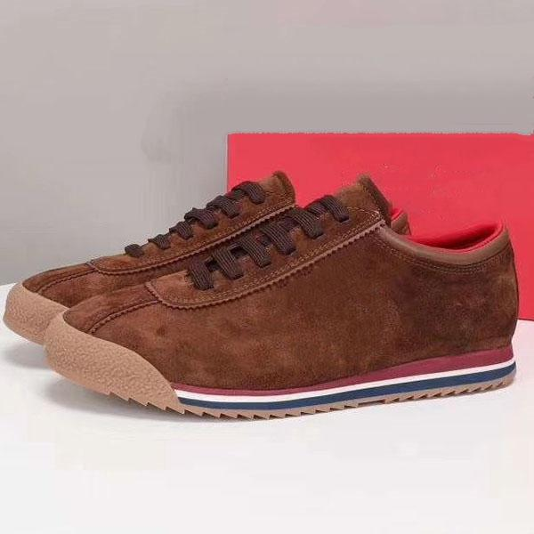 design di lusso WW 2020 uomini scarpe casual sneakers in pelle di moda dei nuovi uomini di alta qualità quotidiana scarpe casual motivo ricamato ka16