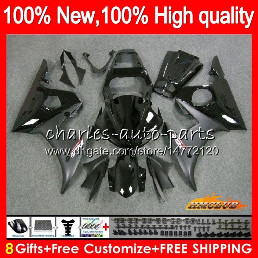 Body Kit voor Yamaha YZF600 YZF 600 R 6 600CC YZF R6 03-05 59HC.1 YZF-R6 YZF-600 YZFR6 03 04 05 2003 2004 2005 Kuip + 8Gifts Stock Zwart