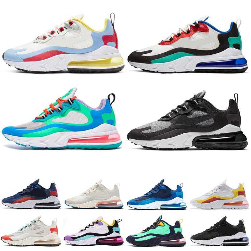 Nike Air Max 270 React Nuove scarpe da corsa reattive per uomo Donna BAUHAUS DESTRA VIOLET OPTICAL ELECTRO VERDE Beige Sneakers uomo 2019 2019 taglia 36-45