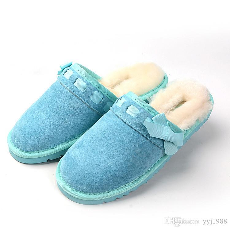 2020 взрывы лук плоские тапочки классический мягкий плюш женская мода лето роскошные кожаные тапочки 36-40