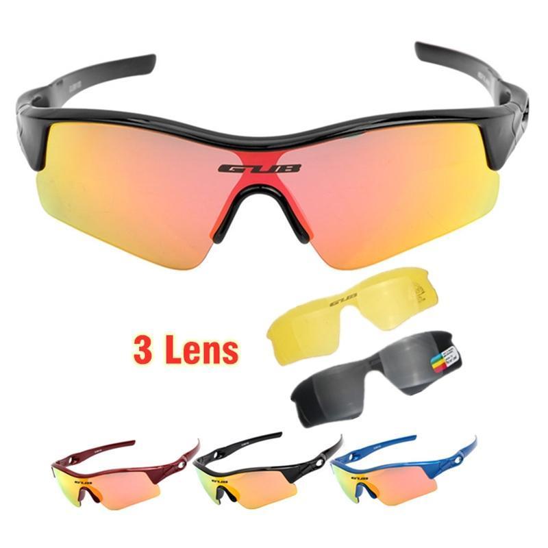3 عدسة الاطفال دراجة النظارات الشمسية للأطفال ركوب الدراجة المستقطبة نظارات الرياضة برو ركوب الدراجات نظارات للأشعة فوق البنفسجية حماية نظارات