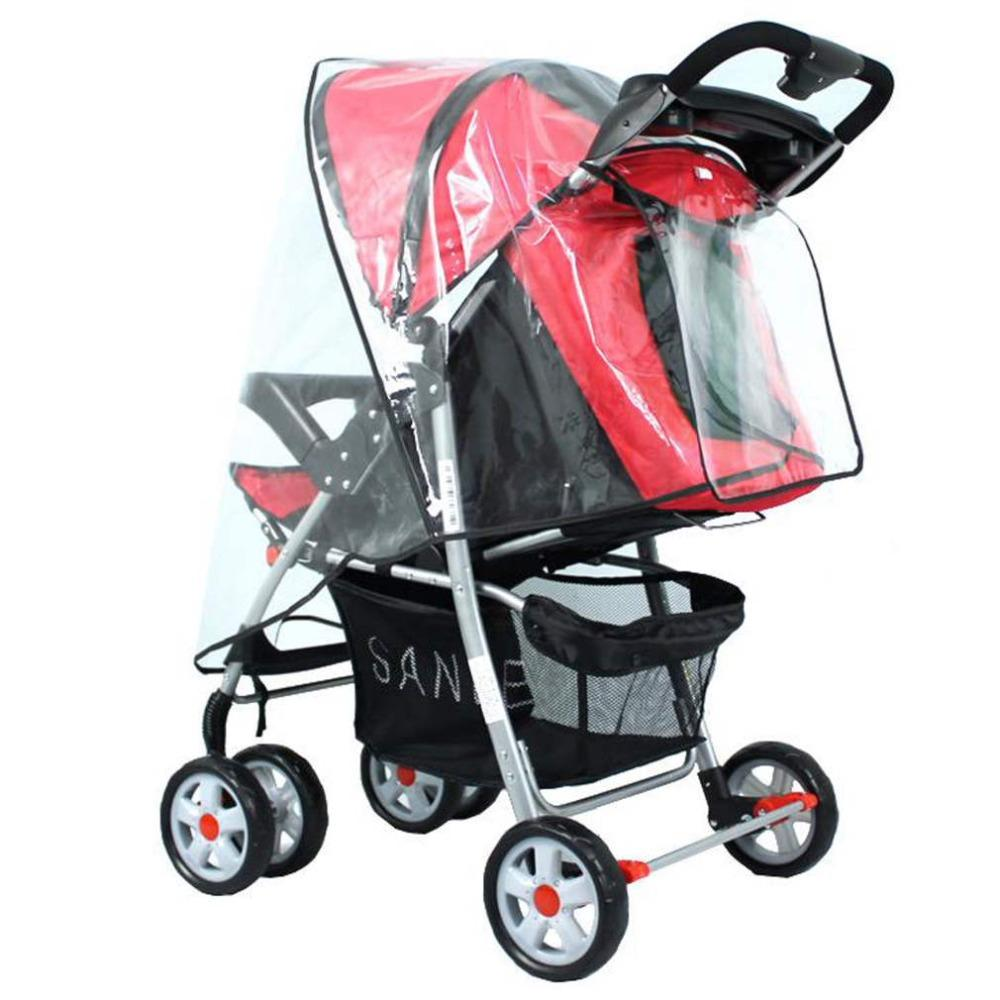 Venda Hot Baby Stroller Acessórios Universal Limpar Waterproof chuva cobrir poeira escudo Zipper Abrir caber a maioria dos carrinhos de criança Carrinhos