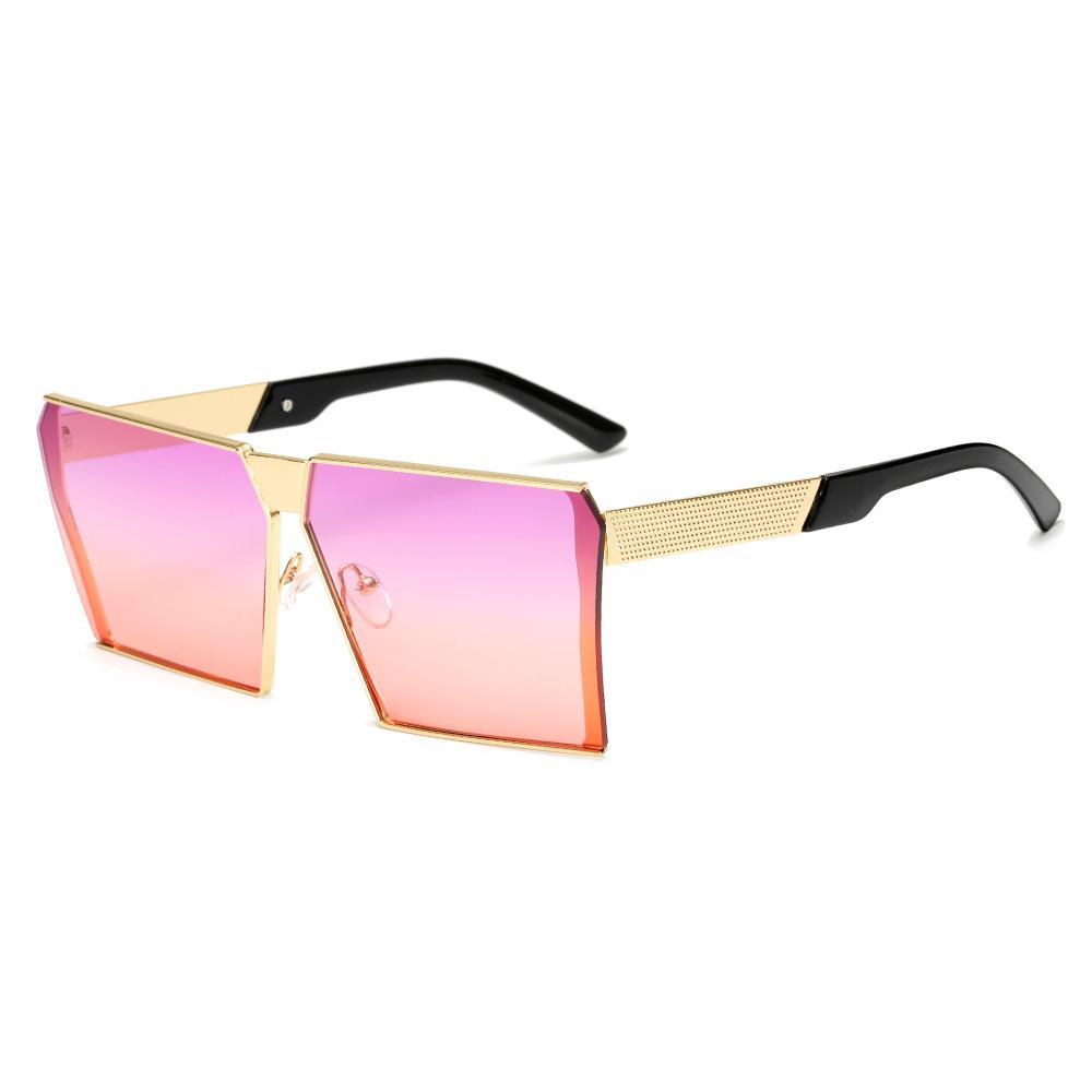 Nueva marca de moda las gafas de sol Designfashion mujeres y hombres retro diseño sin marco de gran tamaño gafas de sol de los hombres de las gafas de sol tonos de diseño